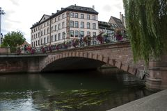Water canal in Strasbourg. France royalty free stock image
