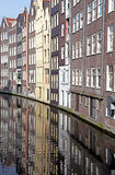 Water canal and typical architecture in Amsterdam, Netherlands stock photos
