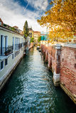 Water canal in Venice. Water canal in beautiful town Venice Italy Stock Photo