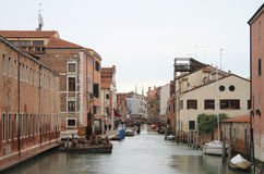 The water canal in Venice Stock Photos