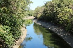 Water canal Villoresi north Italy Stock Photography