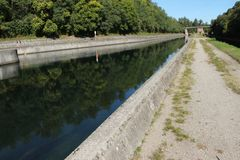 Water canal Villoresi north Italy Stock Photo
