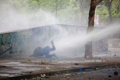 Water Cannon. Protest Stock Image