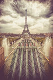 Water cannons of Gardens of the Trocadero royalty free stock images