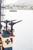 Water Cannons on Tugboat Stock Photos