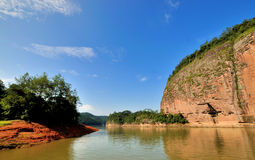Water in canyon, Dajin Lake, Fujian, China Stock Photography