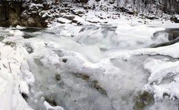 Water of Carpathian mountain Stock Images