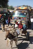 Water carrier on the street Hargeisa Royalty Free Stock Photos