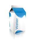 Water carton Royalty Free Stock Photography