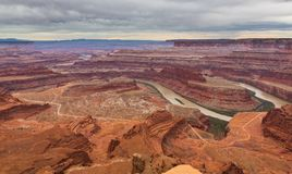 Dead Horse Point State Park Canyons and River Royalty Free Stock Photos