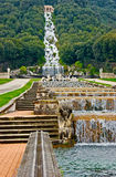 Water cascade. The water cascade in the Royal Palace of Caserta, Italy Stock Image