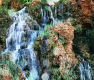 Water cascade. On the Supai river, USA Royalty Free Stock Photos