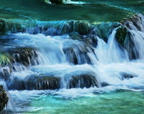 Water cascade. On the Supai river Royalty Free Stock Photo