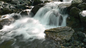 Water cascade. On the japanese mountain river Stock Images