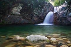 Water cascade. On Corsica, Bavella Royalty Free Stock Photos