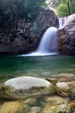 Water cascade. On Corsica, Bavella Stock Photos