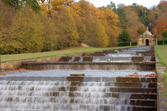 Water Cascade at Chatsworth House Stock Image