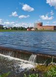 Water cascade city of Lida. Belarus Stock Image