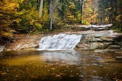 Water Cascade on Mumlava Stream Royalty Free Stock Images