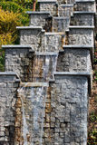 Water cascade in a park Royalty Free Stock Photo