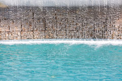 Water cascade pool Royalty Free Stock Image