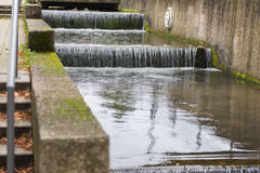 Water cascade with raindrop in the city of Detmold Royalty Free Stock Photos