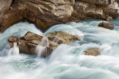 Water cascades. On a mountain river Royalty Free Stock Photos