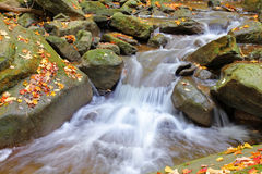 Water cascades on a mountain river Stock Image