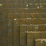 Water cascading down on bricks Royalty Free Stock Photos