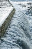 Water cascading Motala stream Norrkoping Stock Photography