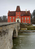 Water castle. Cervena Lhota in South Bohemia royalty free stock photography