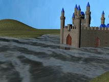 Water castle stock video footage