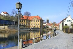Water castle Concordia. On the river Regnitz, Bamberg, Bavaria, Germany Royalty Free Stock Photo