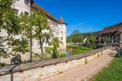 The water castle of Glatt Stock Images