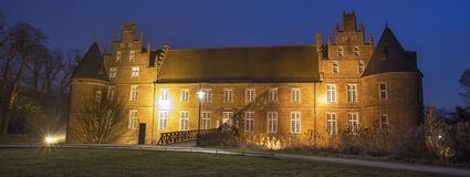 water castle herten germany in the evening Royalty Free Stock Photos