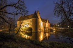 water castle herten germany in the evening Stock Photo
