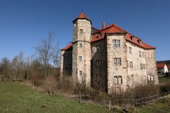 Water castle of Netra in northern Hesse Germany. The water castle of Netra in northern Hesse Germany Stock Photo