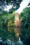 Water castle ruin Royalty Free Stock Images