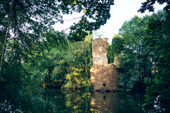 Water castle ruin Royalty Free Stock Photography