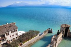 Water Castle in Sirmione Royalty Free Stock Photo