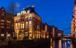 Water Castle Speicherstadt Stock Images