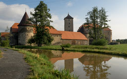 Water Castle Svihov. Stone castle situated in the town of the same name near Klatovy. The castle is surrounded by water. In the medieval times it functioned as royalty free stock photography