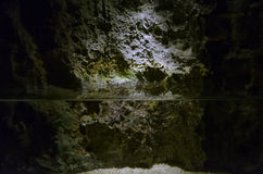 Water in a cave Royalty Free Stock Image