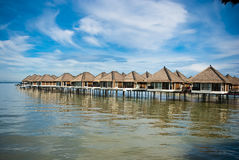 Water Chalet. Luxury chalet in the middle of sea Royalty Free Stock Photos
