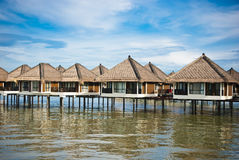 Water Chalet. Luxury chalet in the middle of sea Royalty Free Stock Images