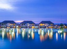 Water chalets Royalty Free Stock Images
