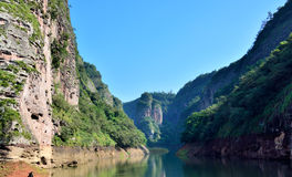 Water channel in canyon, Fujian, China Royalty Free Stock Photography