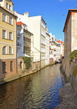 Water channel Certovka in Prague Royalty Free Stock Photo
