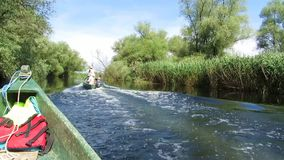 Water channel in the Danube delta stock video