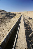 Water channel in desert Stock Photos